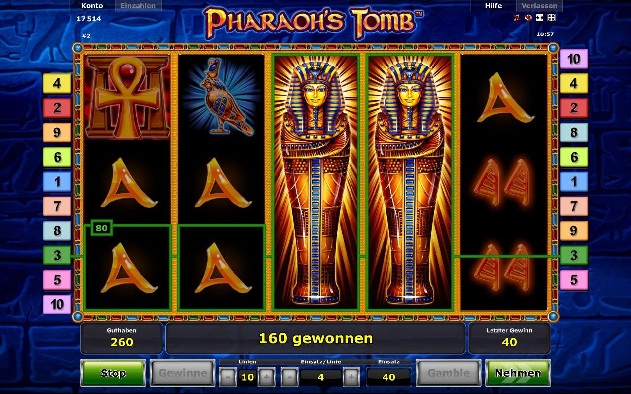 Pharaohs Tomb Spielautomat - Jetzt kostenlos online spielen