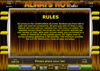 Always Hot Cubes Regeln