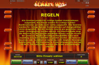 always-hot-deluxe-regeln