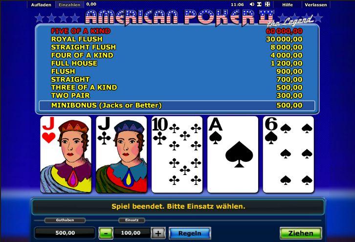 american poker automat