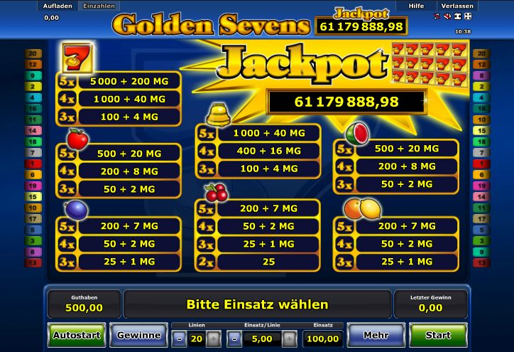 stargames golden sevens jackpot