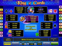 King of Cards Gewinne
