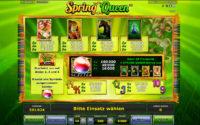 spring queen gewinne