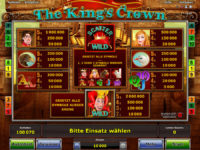 the kings crown gewinne