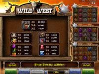 wild west gewinne